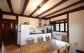 Küche mit Esszimmer in der Gentilburg