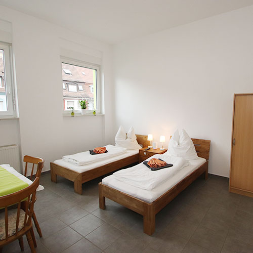 Zu unserem Appartement in Aschaffenburg, Würzburger Straße (Hofgarten)