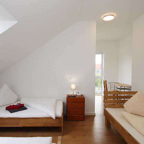 Zu unserem Appartement in Aschaffenburg in der Beckerstraße